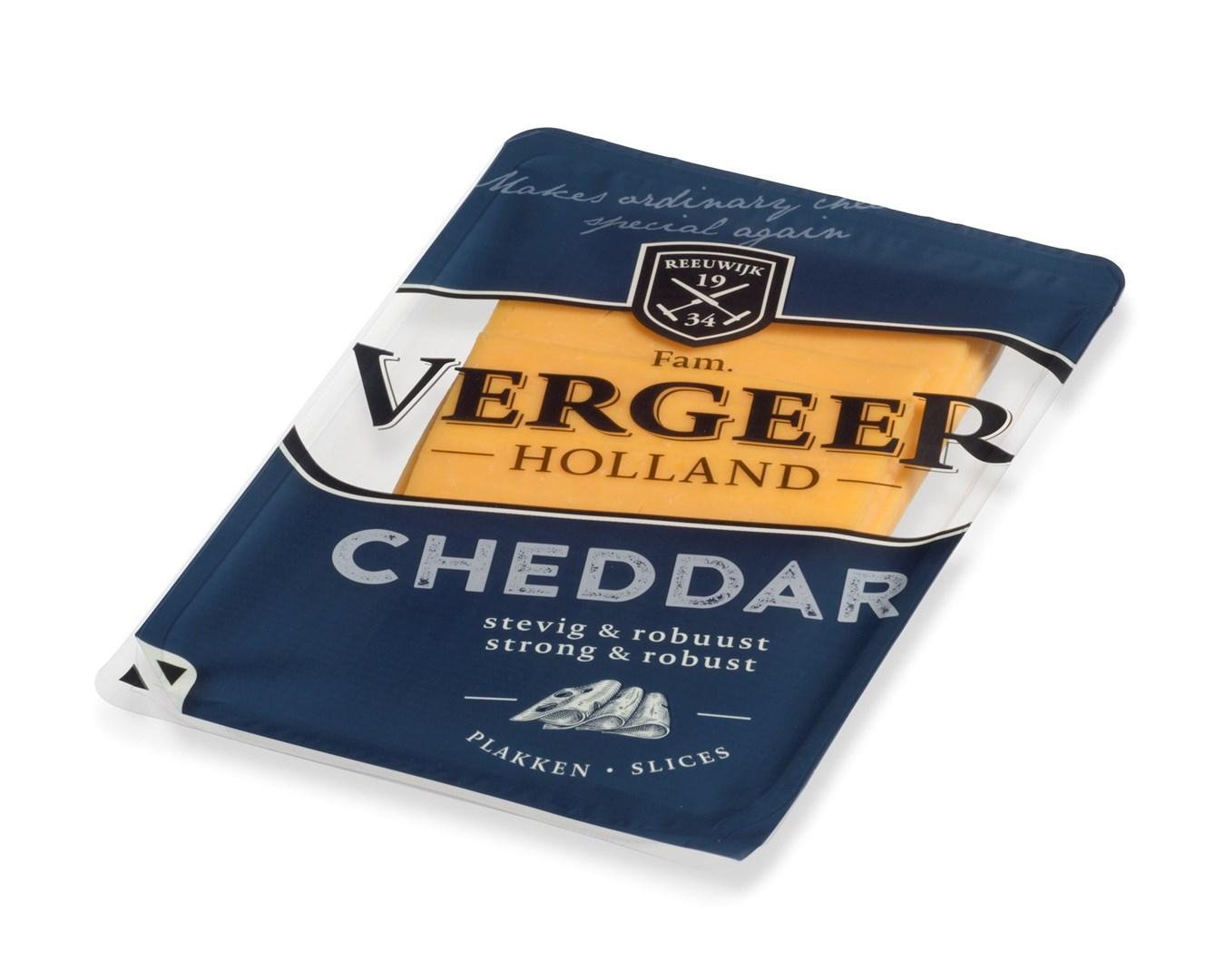 Productafbeelding Vergeer Cheddar rood gesneden