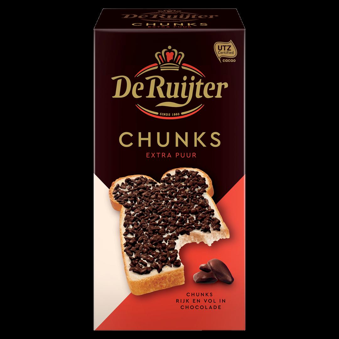 Productafbeelding De Ruijter Chocoladestukjes Extra Puur 200 g Doos
