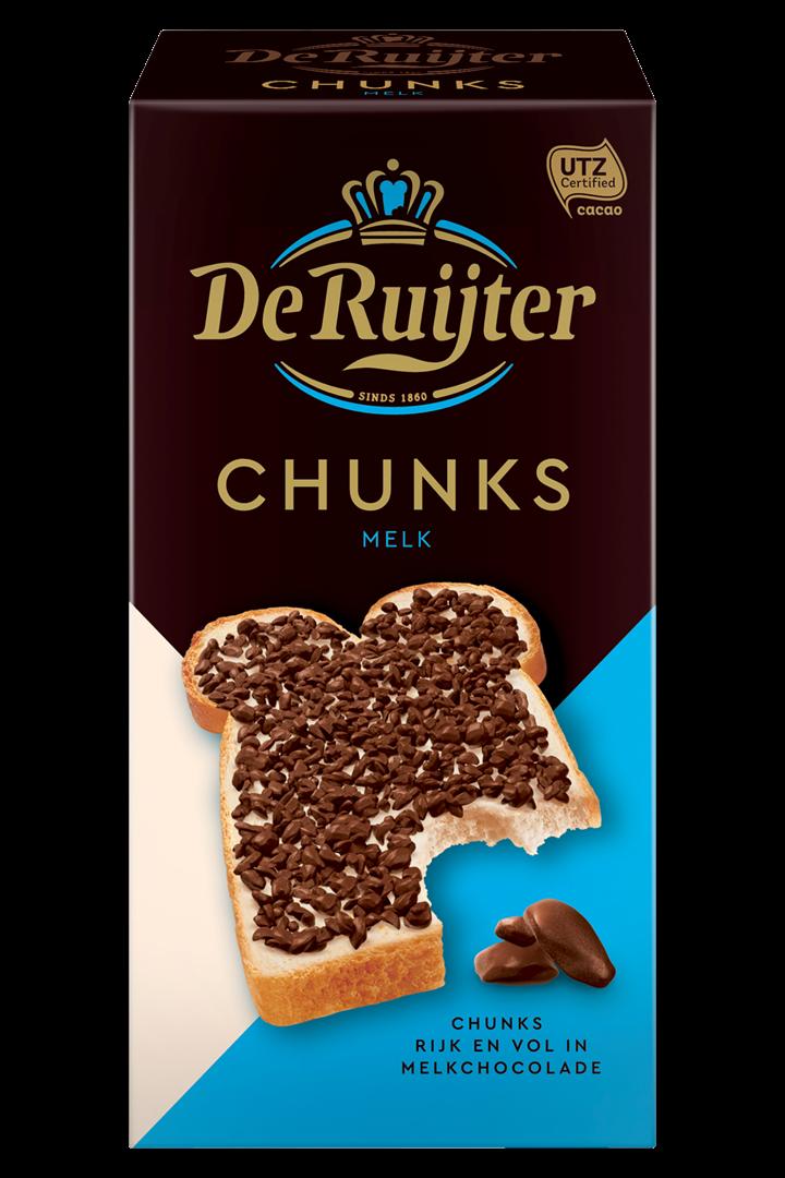 Productafbeelding De Ruijter Melkchocoladestukjes 200 g Doos