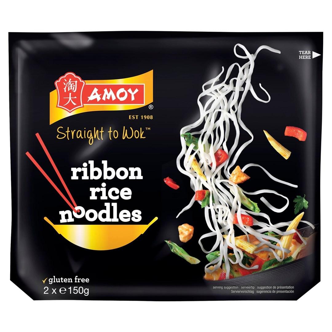 Productafbeelding Amoy Rijstnoedels Ribbon 2 x 150 g Zak