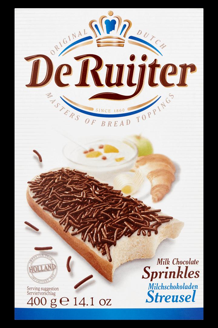Productafbeelding De Ruijter Melkchocoladehagelslag 400 g Doos