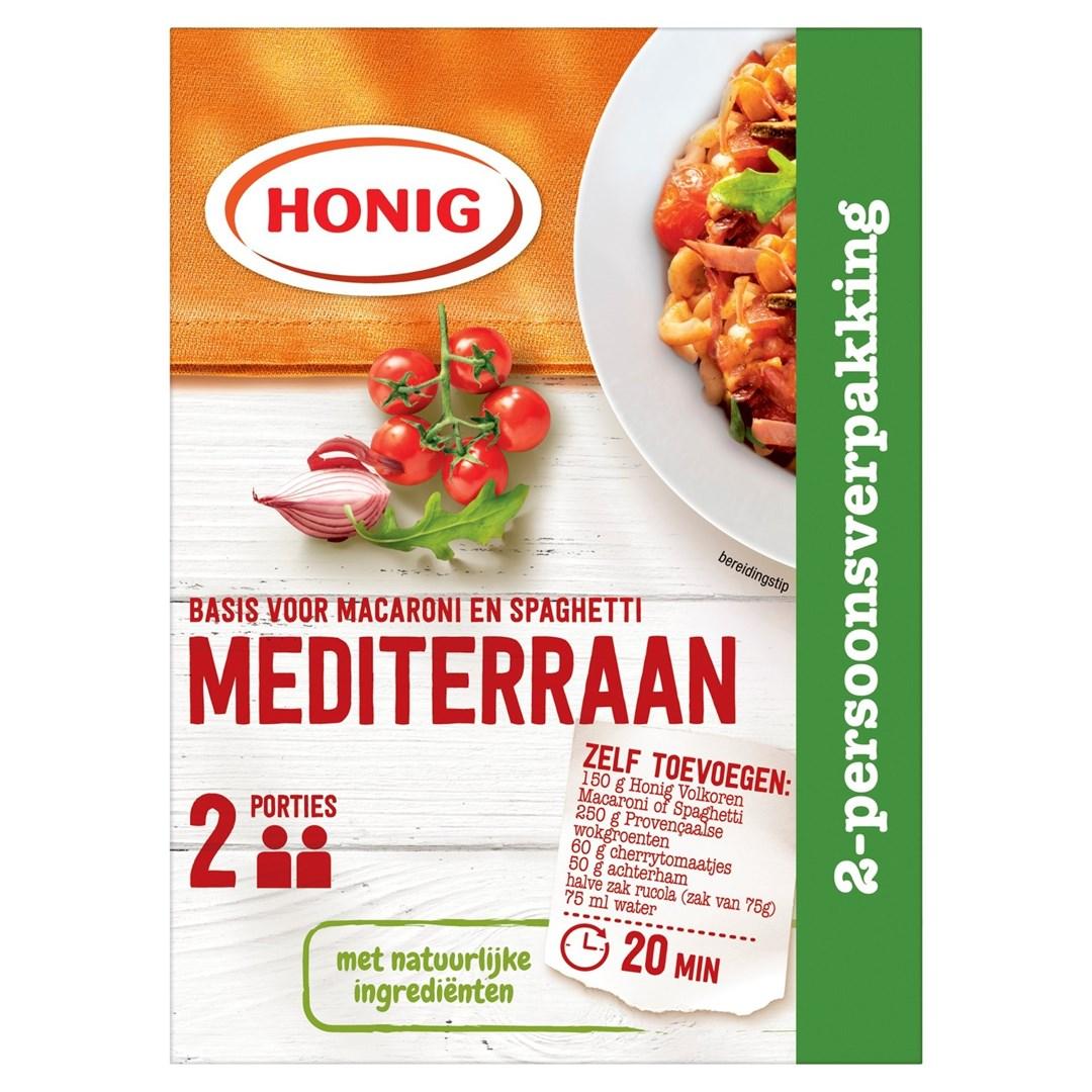 Productafbeelding Honig Mix Basis voor Macaroni en Spaghetti Mediterraan 23 g Doos