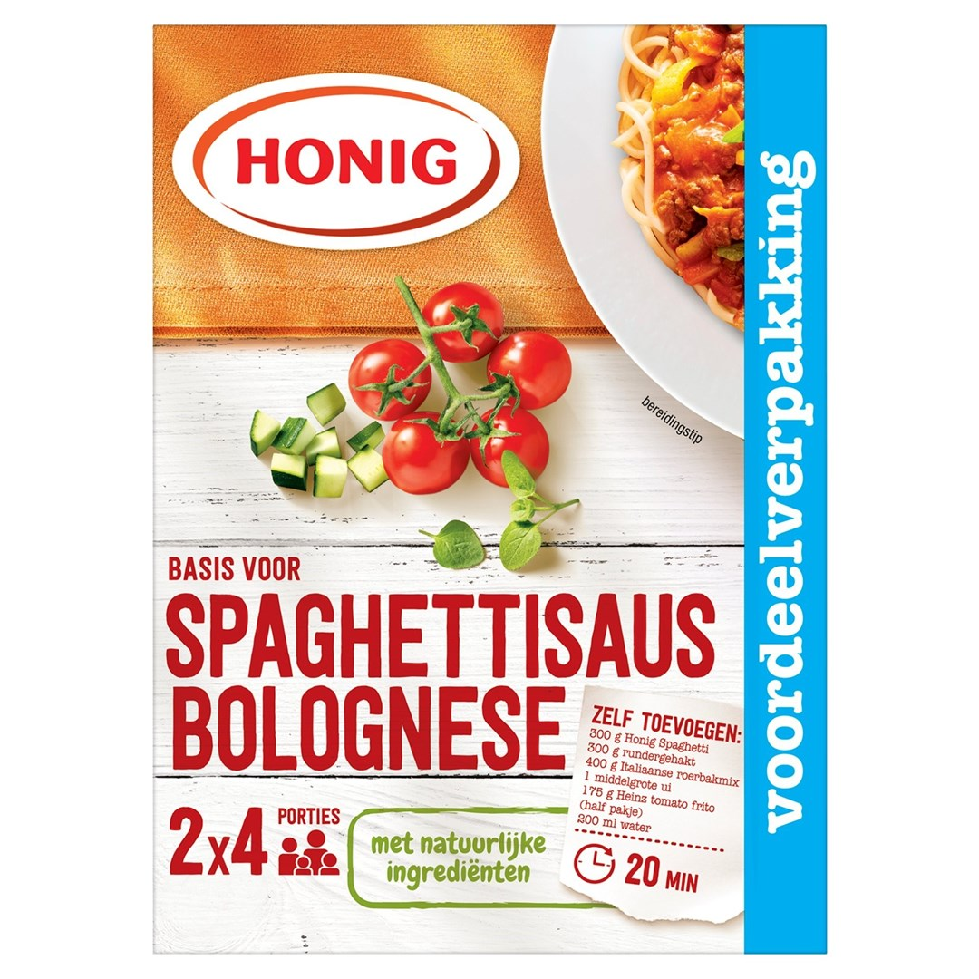 Productafbeelding Honig Mix Basis voor Spaghettisaus Bolognese 2 x 41 g Doos