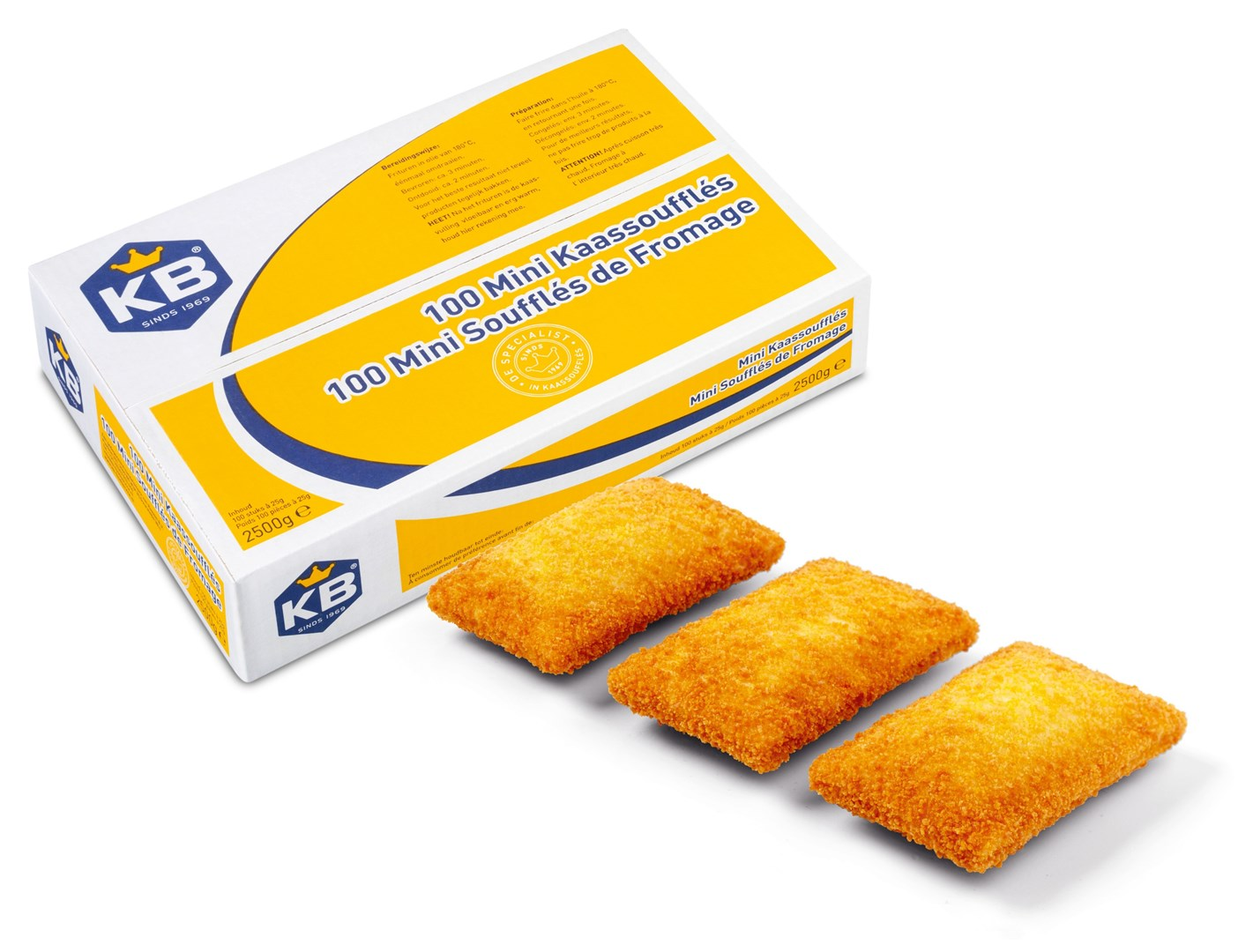Productafbeelding KB Mini Kaassoufflé 100 x 25 gram