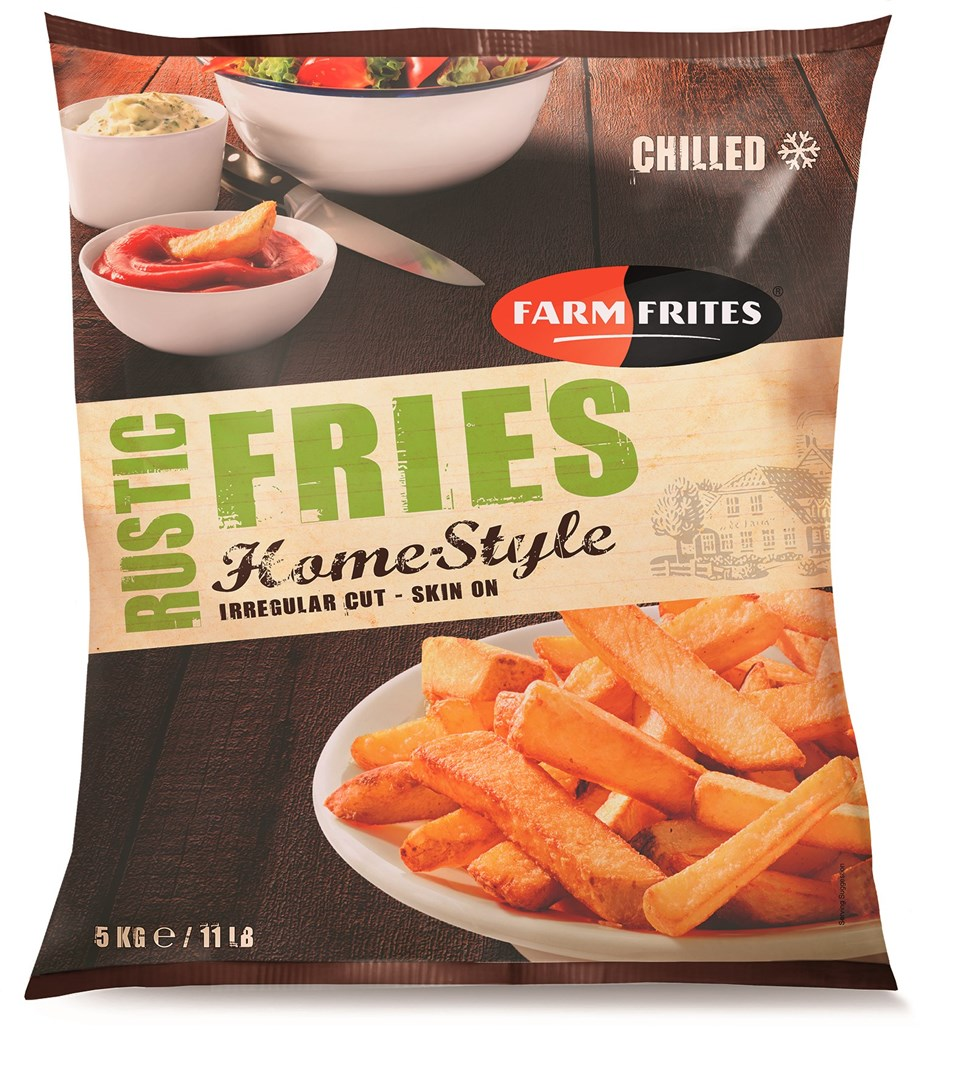 Productafbeelding FARM FRITES HOMESTYLE RUSTIC FRIES IRREGULAR CUT SKIN ON