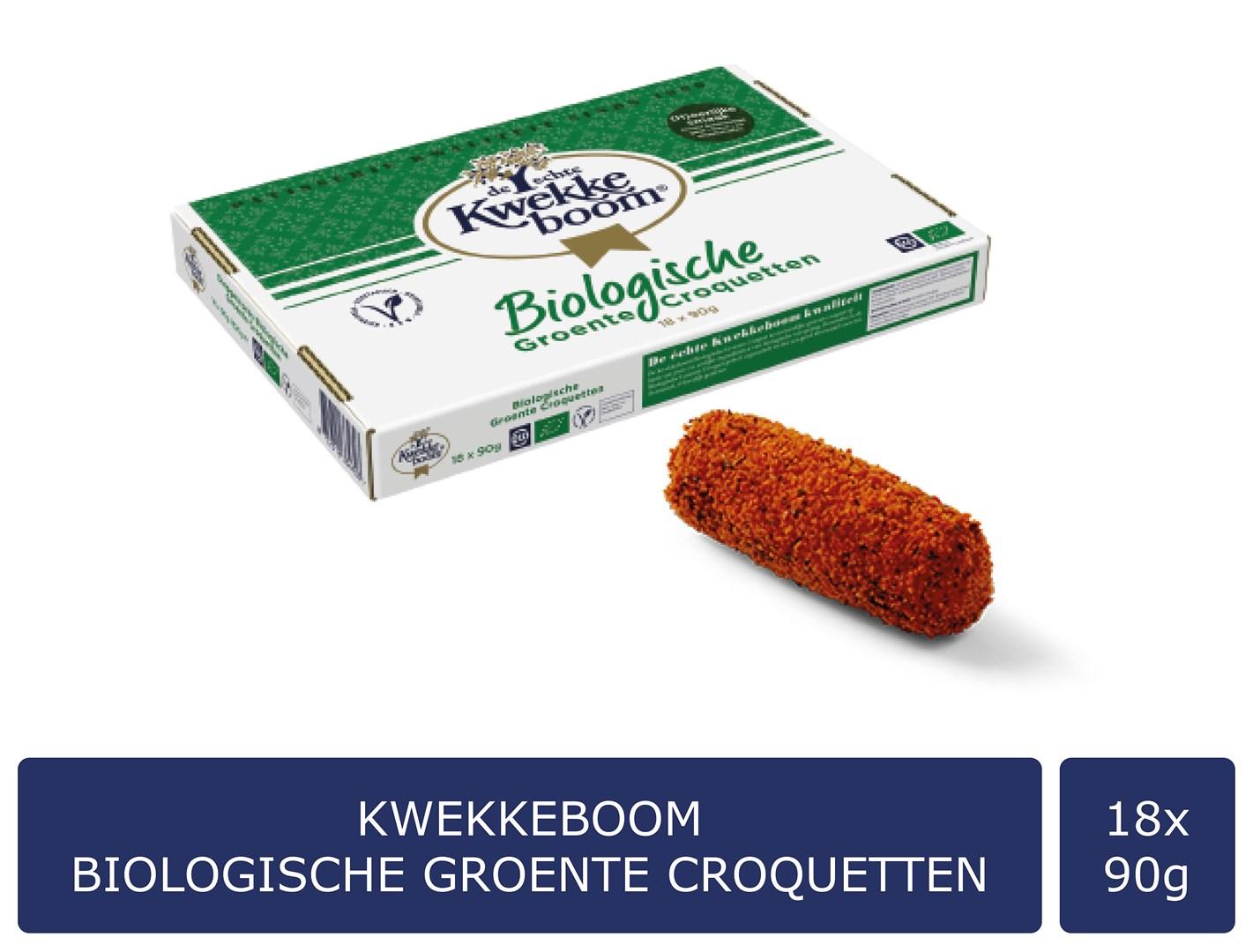 Productafbeelding Kwekkeboom Biologische Groente Croquetten 18 x 90 gram