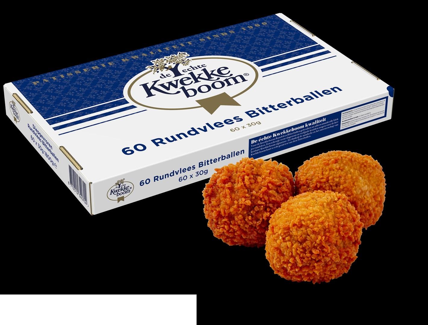 Productafbeelding Kwekkeboom Rundvlees Bitterballen 60 x 30 gram