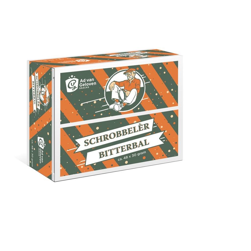 Productafbeelding Ad van Geloven Schrobbelèr bitterbal 48 x 30 gram