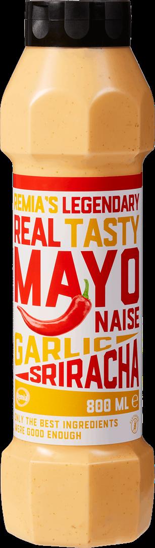 Productafbeelding Remia's Legendary Real Tasty Mayonnaise Garlic Sriracha   Tube 800 ML