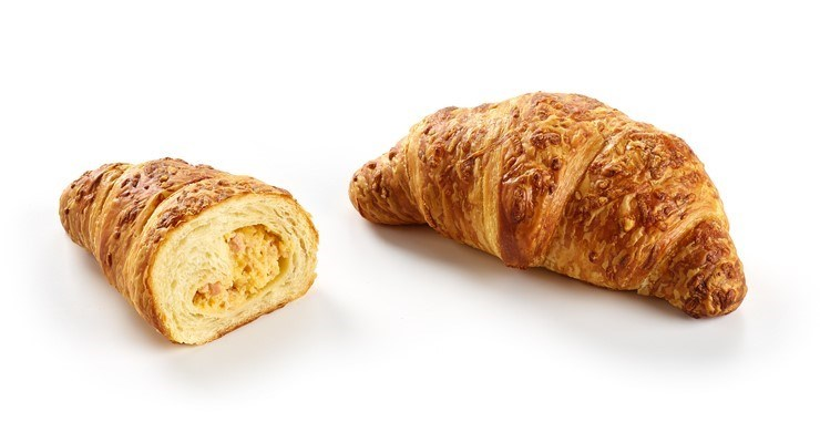 Productafbeelding Croissant ham & cheese with butter