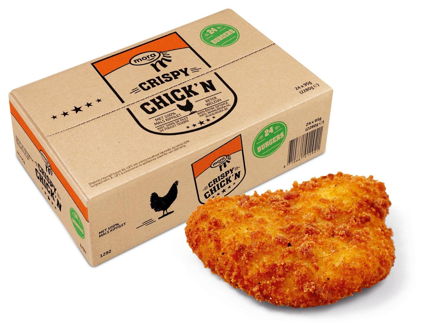 Productafbeelding Mora Crispy Chick'n Burgers 24 x 95 gram