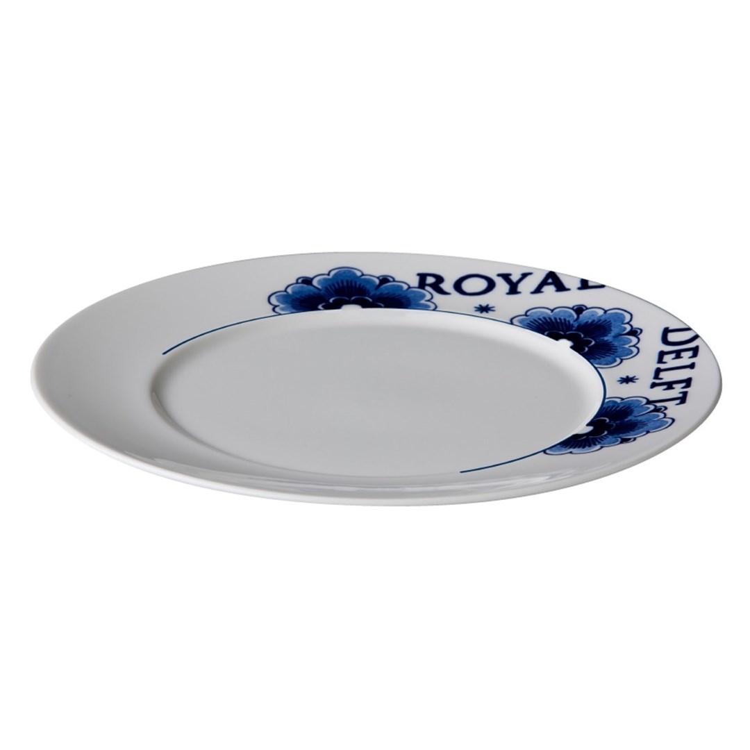 Productafbeelding Royal Delft bord met rand 22 cm