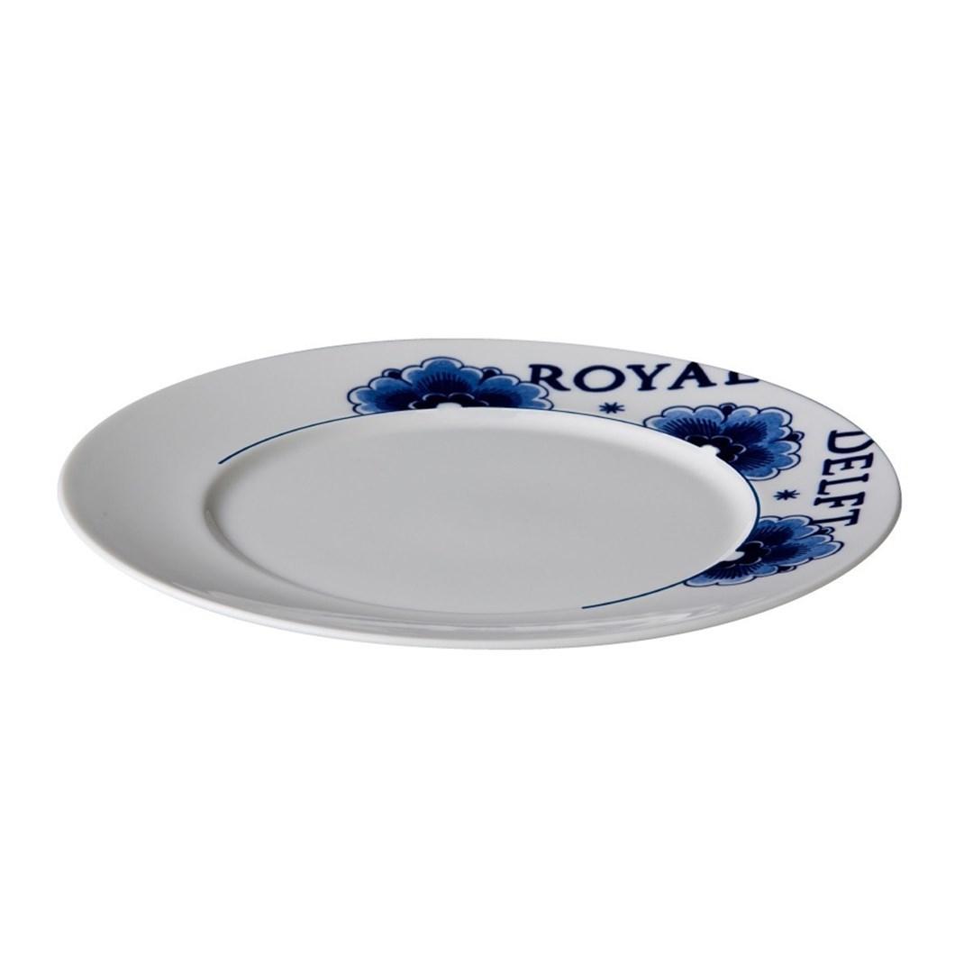 Productafbeelding Royal Delft bord met rand 23,5 cm