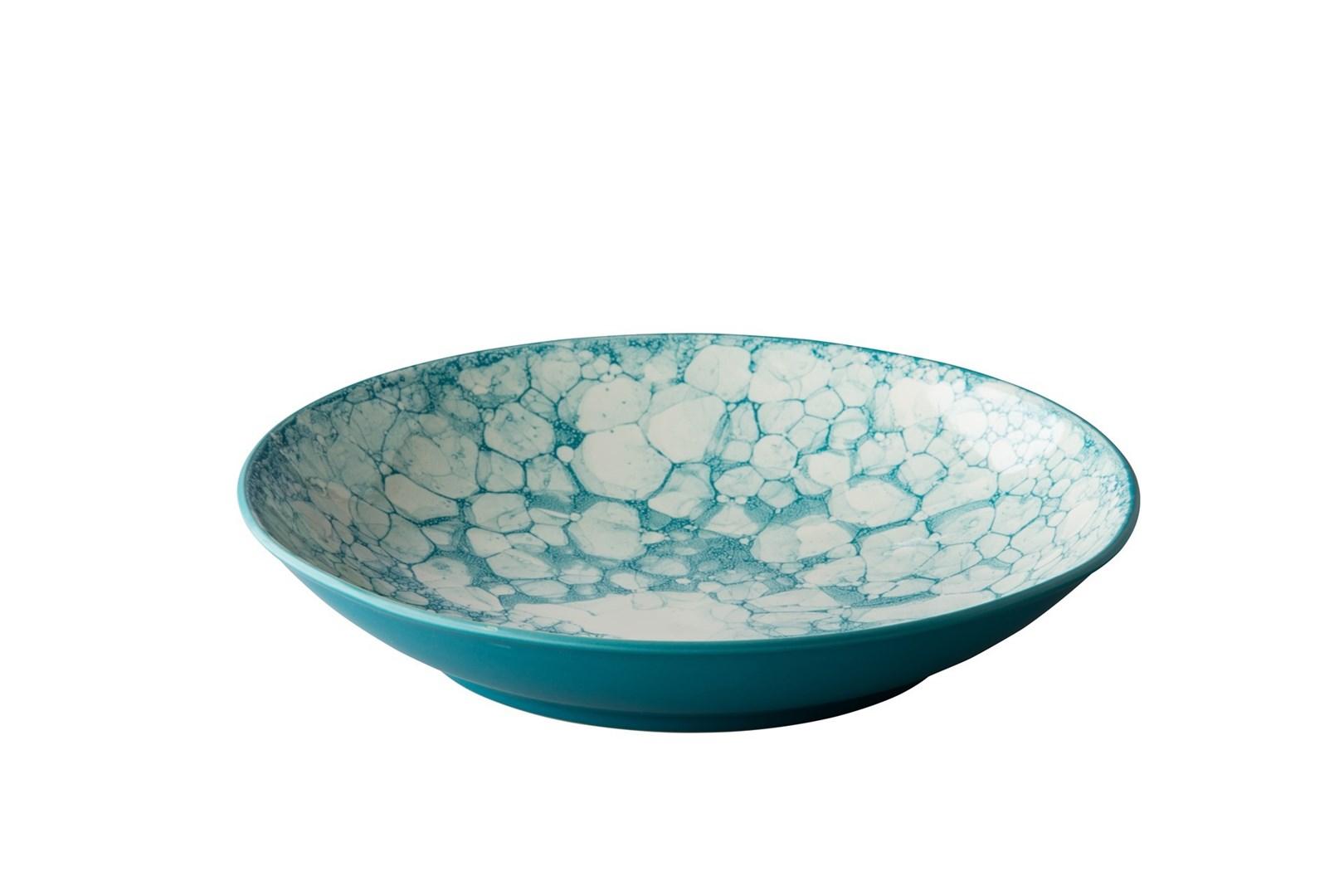 Productafbeelding Diep bord Bubble turquoise 25,5 cm