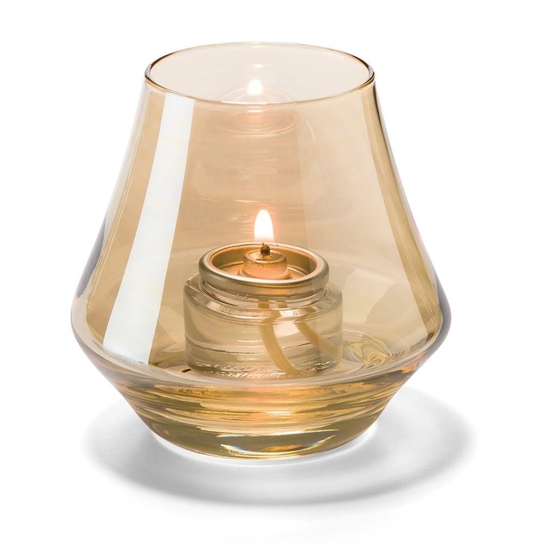 Productafbeelding Conische lamp glas goud helder 5 x 9 cm