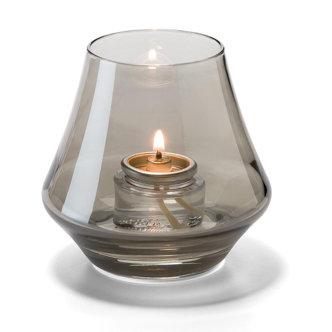 Productafbeelding Conische lamp glas rook helder 5 x 9 cm