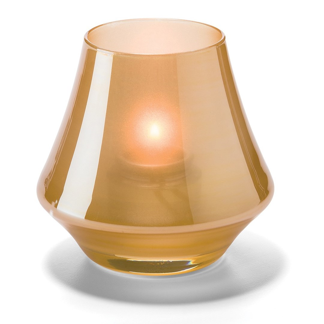 Productafbeelding Conische lamp glas goud mat 5 x 9 cm