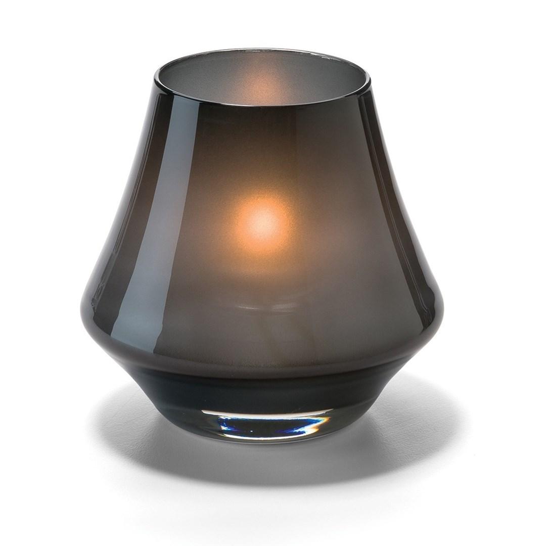 Productafbeelding Conische lamp glas zwart mat 5 x 9 cm