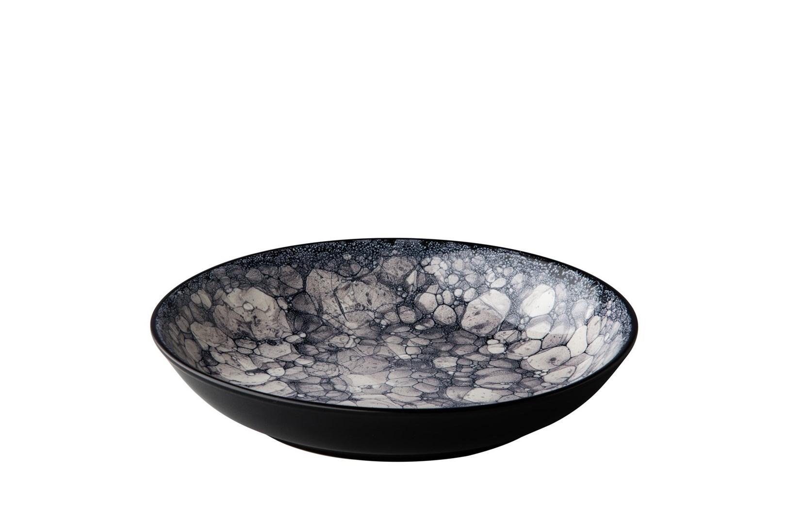 Productafbeelding Diep bord Bubble zwart 21 cm