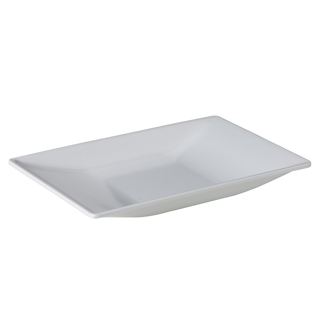 Productafbeelding Bootvormig plateau wit 31,8 x 21 x 3,2 cm