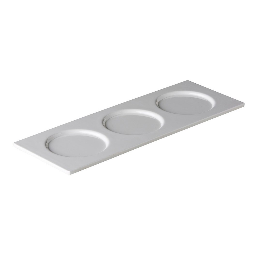 Productafbeelding Serveerschaal met 3 uitsparingen 38,5 x 13,5 cm