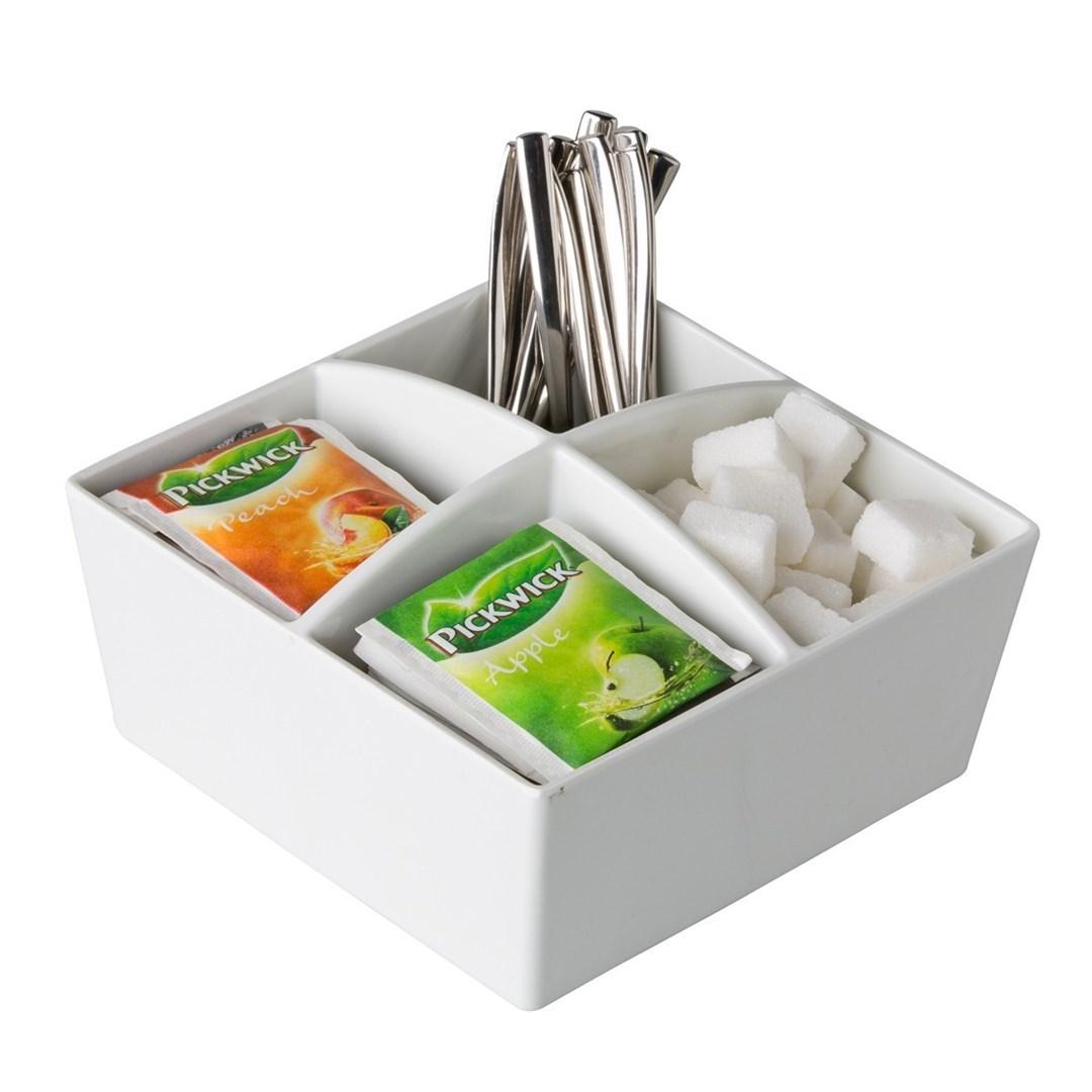 Productafbeelding 4-vaks thee- & suikerhouder 15,5 cm