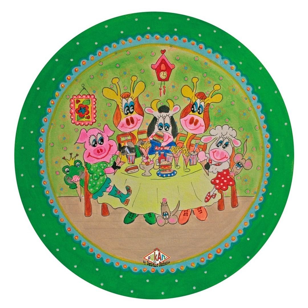 Productafbeelding Kinderbord met rand 'friethuis' groen 26,7 cm