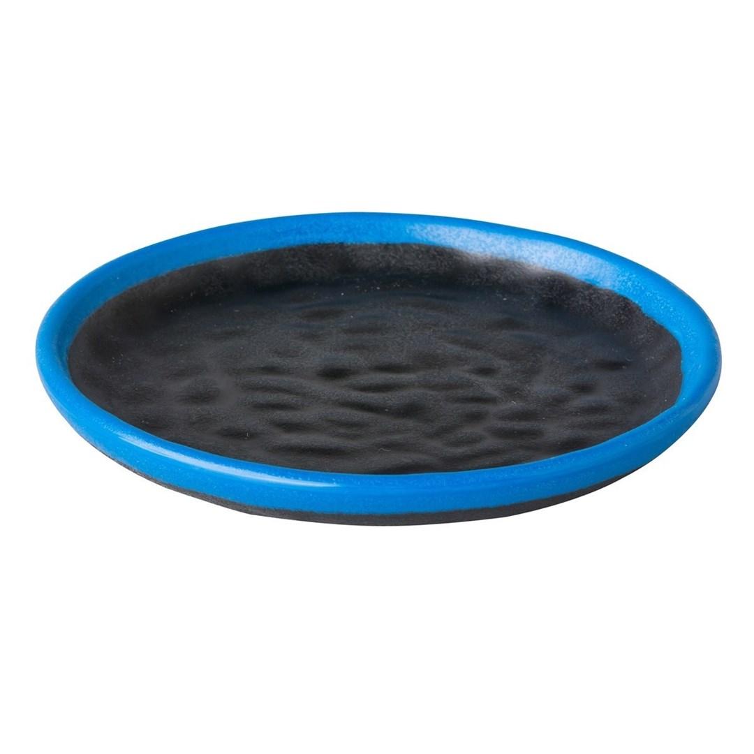 Productafbeelding Rond sushibord zwart/blauw Asia 15 cm