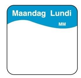 Productafbeelding Vol. oplosbare sticker maandag 25 mm 500/rol