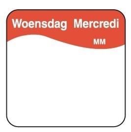 Productafbeelding Vol. oplosbare sticker woensdag 25 mm 500/rol
