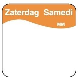 Productafbeelding Vol. oplosbare sticker zaterdag 25 mm 500/rol
