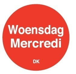 Productafbeelding Permanente sticker woensdag 19 mm 1000/rol