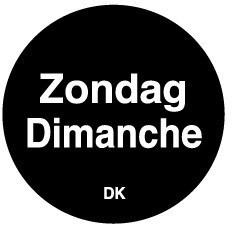 Productafbeelding Permanente sticker zondag 19 mm 1000/rol