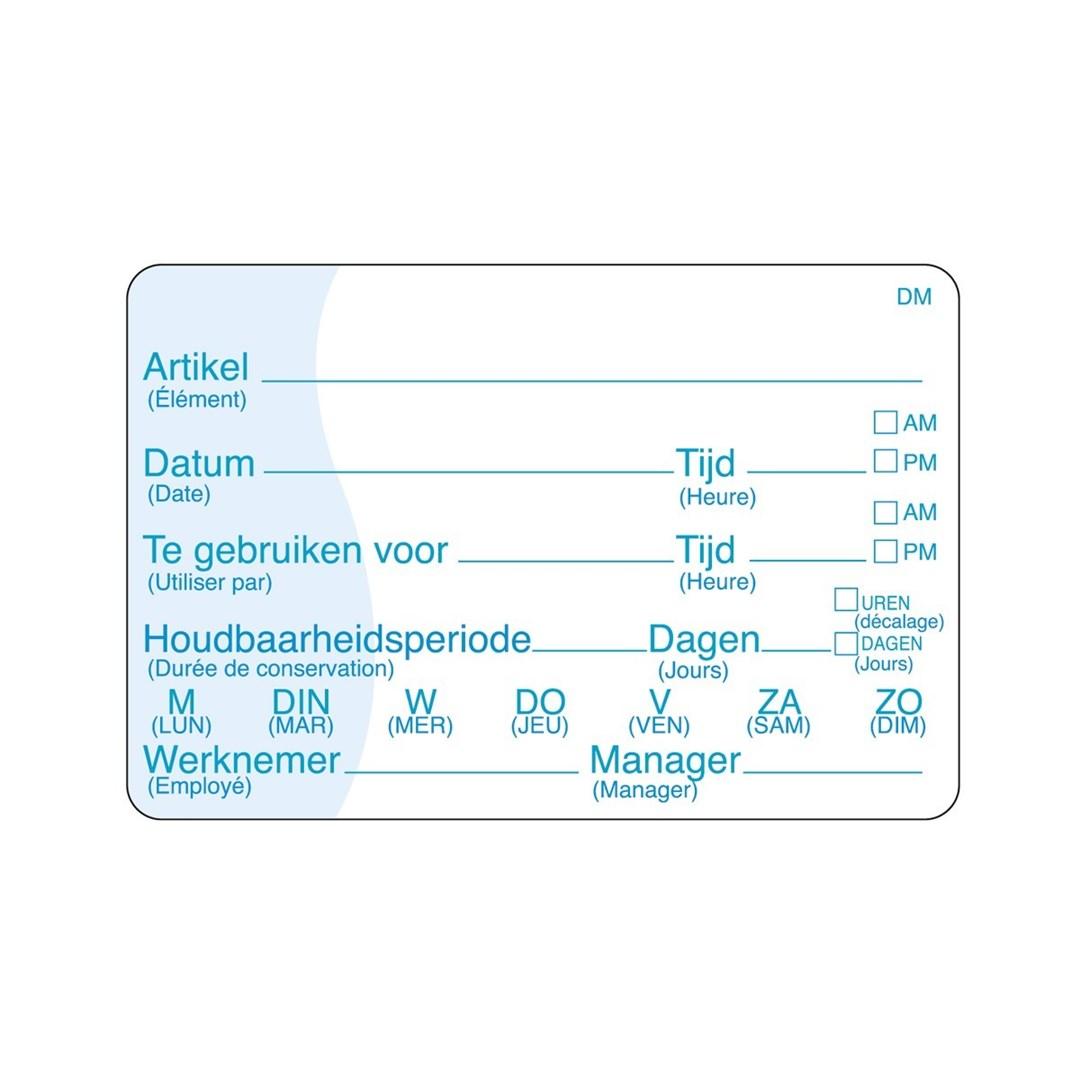 Productafbeelding Vol. oplosbare sticker met schrijfvlak 250/rol