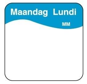 Productafbeelding Makk. verwijderbare sticker maandag 25 mm 1000/rol