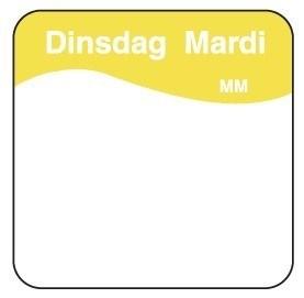 Productafbeelding Makk. verwijderbare sticker dinsdag 25 mm 1000/rol