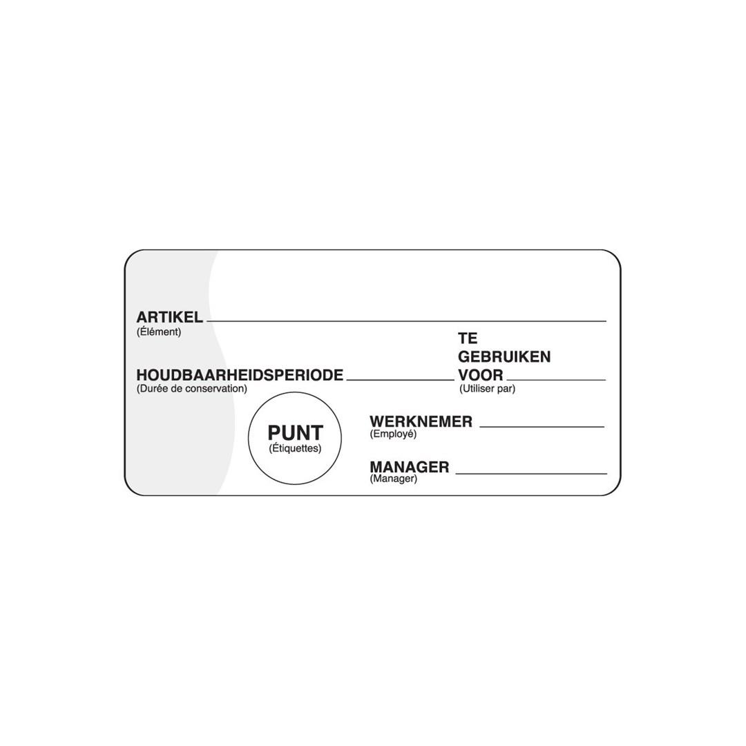 Productafbeelding Makk. verwijderbare sticker m/schrijfvlak 500/rol