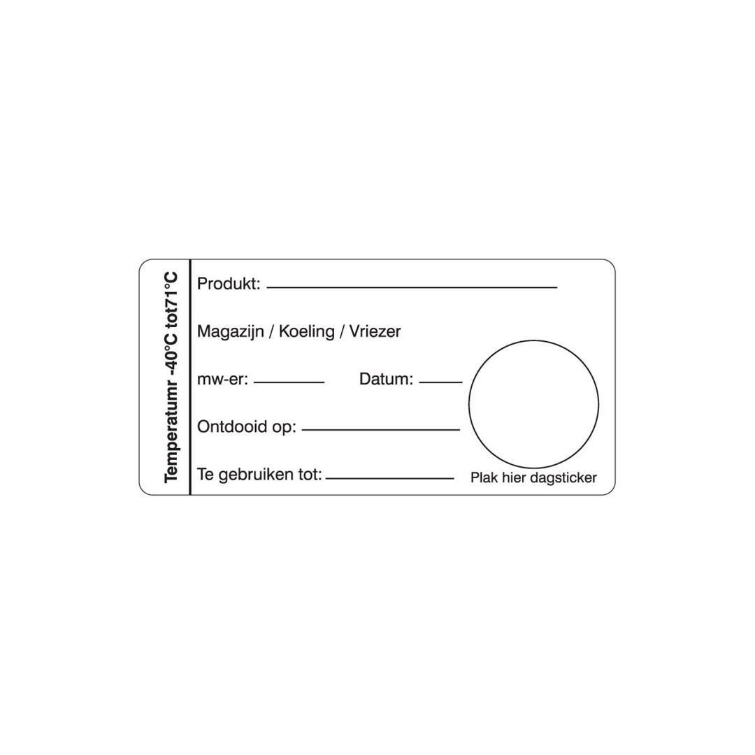 Productafbeelding Multi sticker magazijn/koeling/vriezer 500/rol