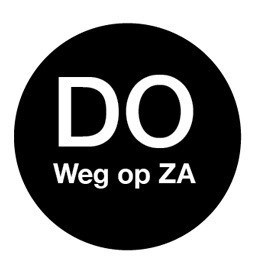 Productafbeelding Afwasb. sticker 'do weg op za' 19 mm 500/rol