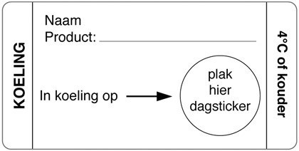 Productafbeelding Afwasbare sticker koeling 250/rol