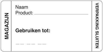 Productafbeelding Afwasbare sticker magazijn 250/rol