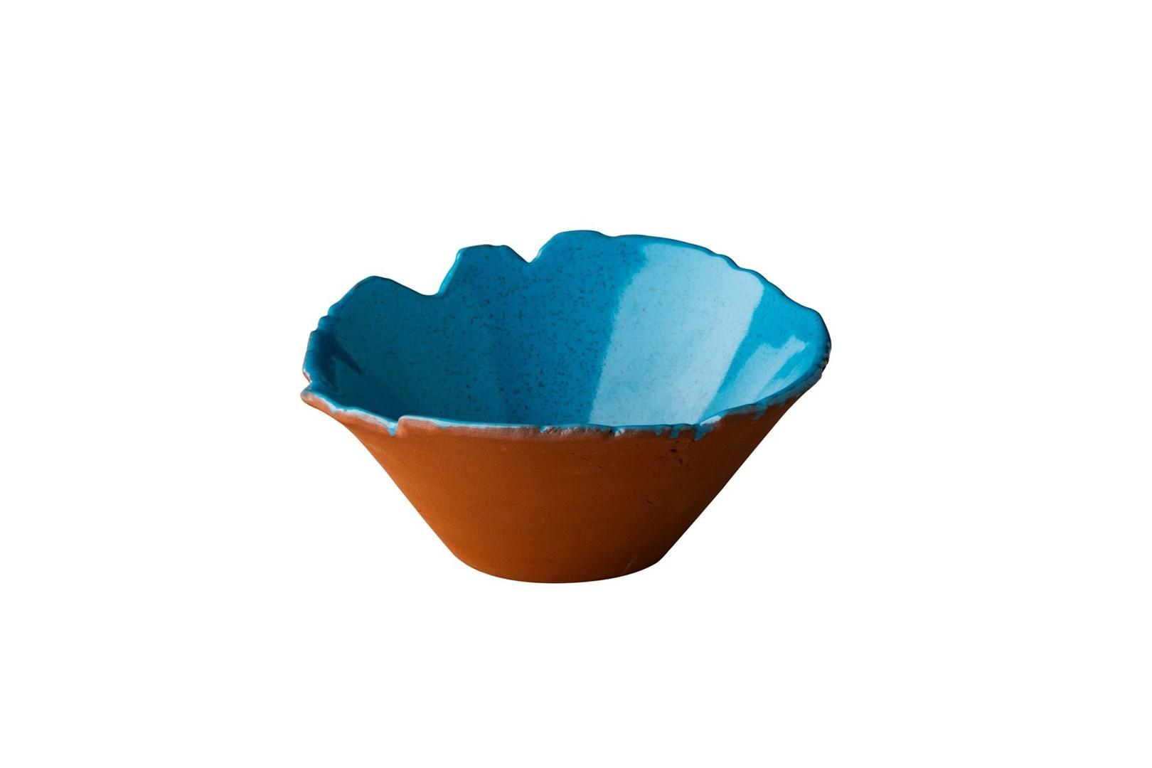 Productafbeelding Stoneheart organische kom  13 x 7,8 cm blauw