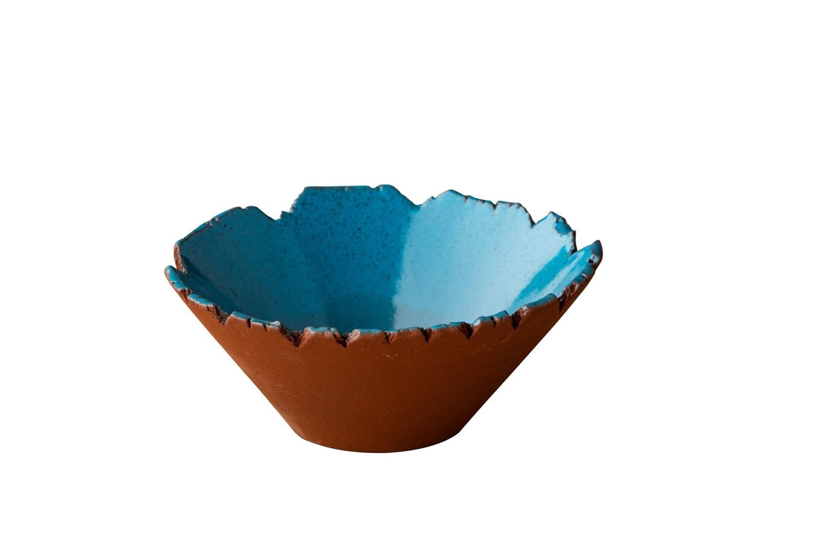 Productafbeelding Stoneheart organische kom  16 x 9,5 cm blauw