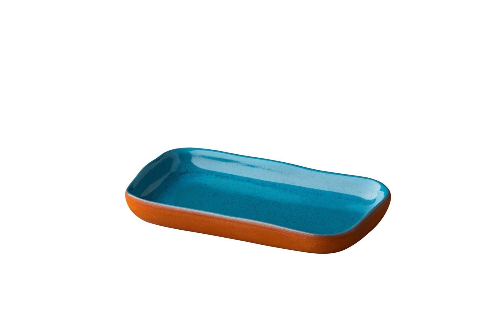 Productafbeelding Stoneheart snack tapas bord 15 x 8,5 cm blauw