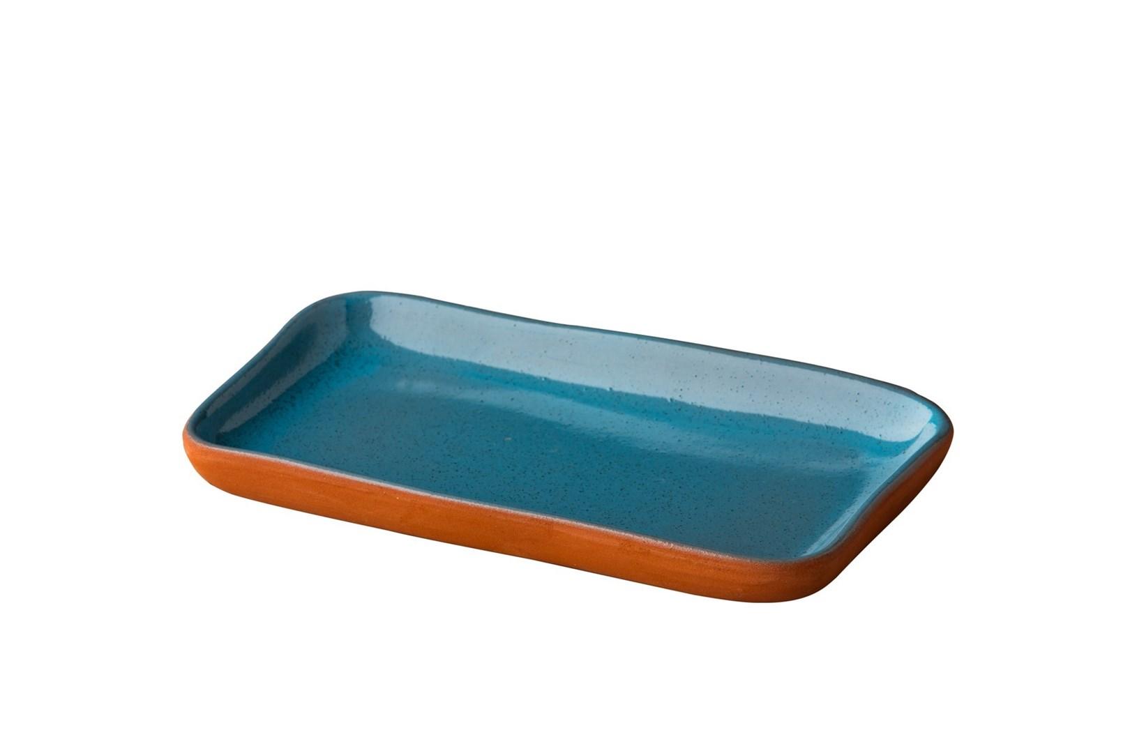 Productafbeelding Stoneheart snack tapas bord 19 x 11,2 cm blauw