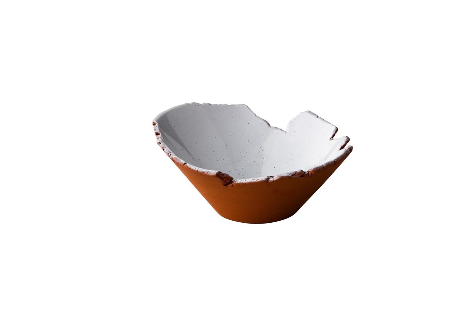 Productafbeelding Stoneheart organische kom 13 x 7,8 cm wit