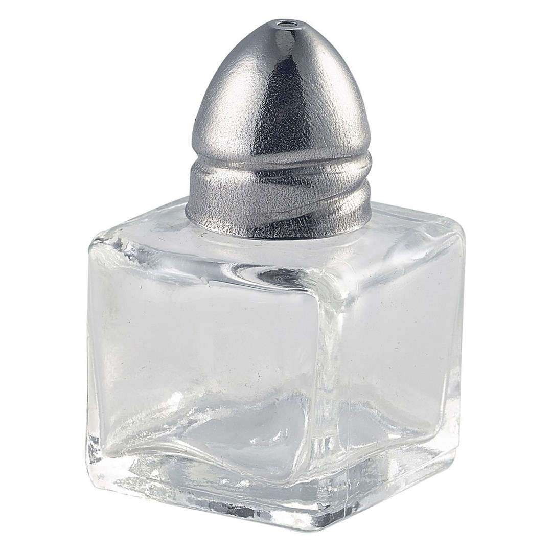 Productafbeelding Vierkant glazen zoutvaatje 3 x 5,5 cm