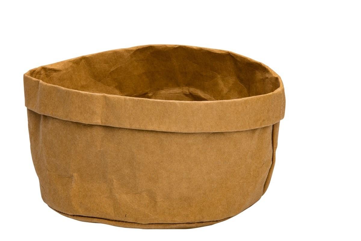 Productafbeelding Broodmand papier wasbaar bruin 18 x 18 x 15