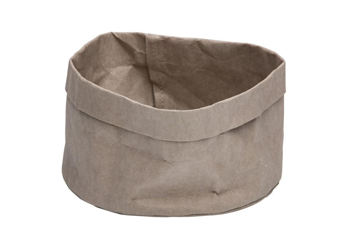 Productafbeelding Broodmand papier wasbaar grijs 18 x 18 x 15