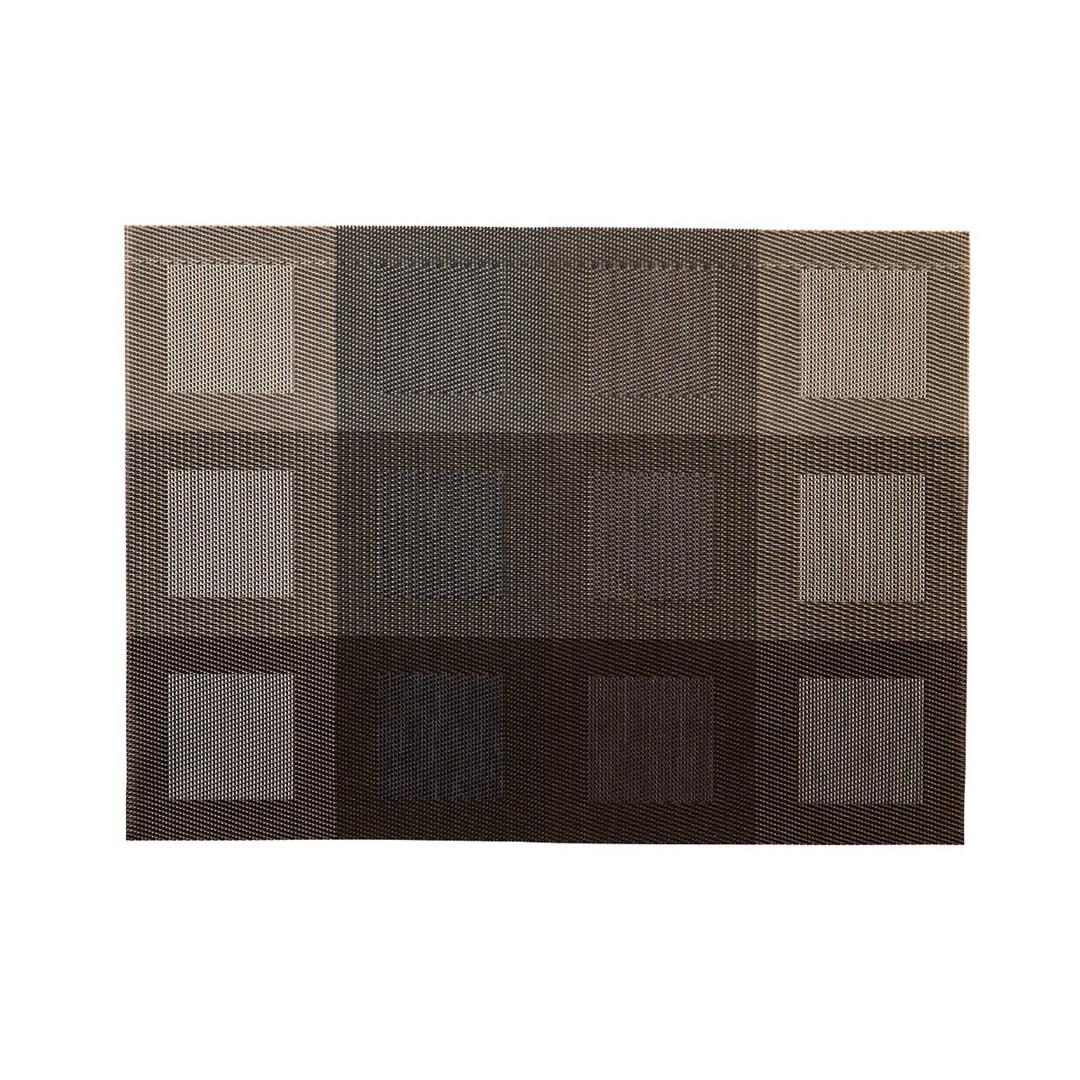 Productafbeelding Placemat rechthoekig Zilver/Bruin 45 x 33 cm